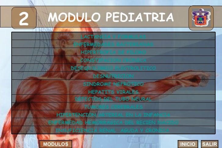 MODULO PEDIATRIA 2 INICIO SALIR MODULOS DEFECTOS DEL TUBO NEURAL HIPERTROFIA DE PILORO SINDROME NEFROTICO HEPATITS VIRALES...