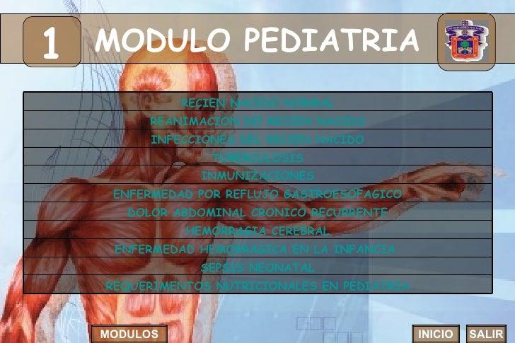 MODULO PEDIATRIA 1 INICIO SALIR MODULOS HEMORRAGIA CEREBRAL ENFERMEDAD HEMORRAGICA EN LA INFANCIA  DOLOR ABDOMINAL CRONICO...