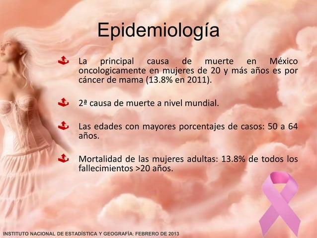 …Epidemiología Actualmente son más de 25 millones de mujeres de >25 años. El 41.3% del total de los casos nuevos ocurren...