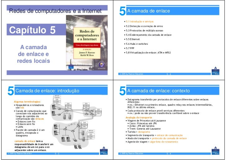 Redes de computadores e a Internet              5       A camada de enlace                                                ...
