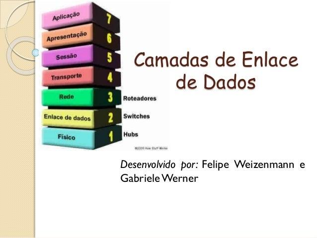 Camadas de Enlace de Dados Desenvolvido por: Felipe Weizenmann e GabrieleWerner