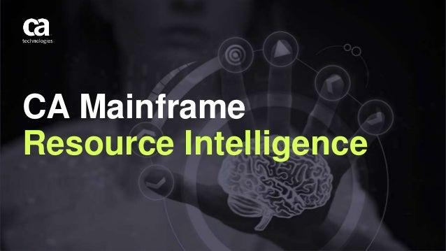 CA Mainframe Resource Intelligence