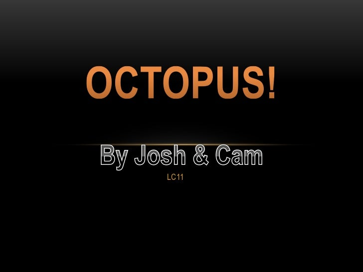LC11<br />Octopus!<br />By Josh & Cam<br />