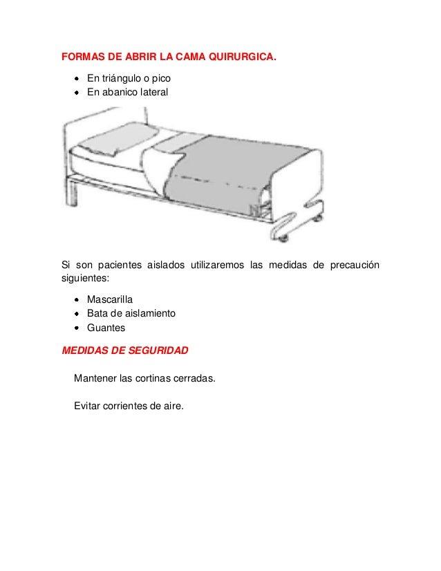 Cama quirurgica y mesa quirurgica for Cama cerrada