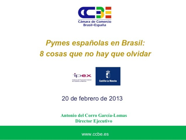 20 de febrero de 2013   Antonio del Corro García-Lomas         Director EjecutivoAsamblea General Ordinaria. 10 de junio 2...