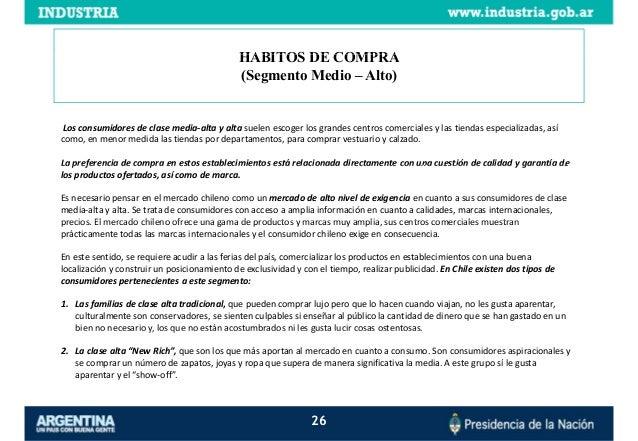 Estudio de Inteligencia Comercial Mercado chileno de