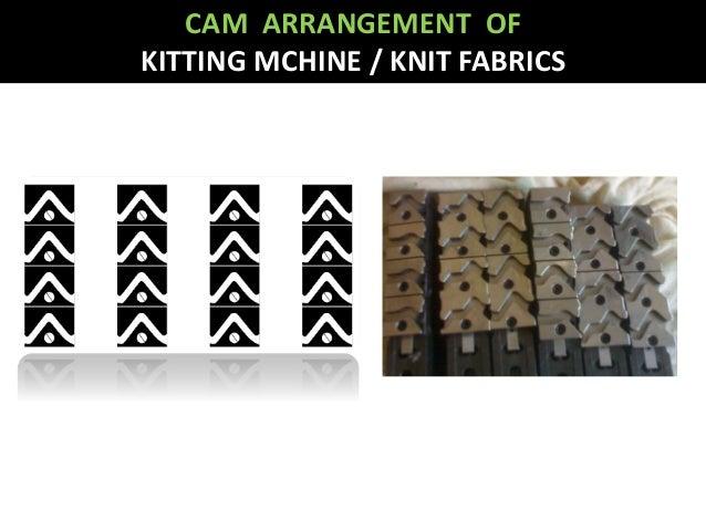 CAM ARRANGEMENT OF KITTING MCHINE / KNIT FABRICS