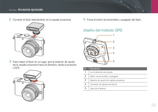 Camara samsung nx100 manual de usuario