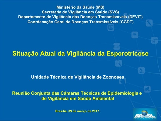 Unidade Técnica de Vigilância de Zoonoses Reunião Conjunta das Câmaras Técnicas de Epidemiologia e de Vigilância em Saúde ...