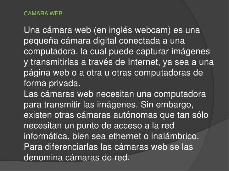 cámara web Inglés pequeña