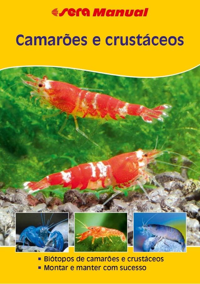 n Biótopos de camarões e crustáceosn Montar e manter com sucessoCamarões e crustáceos