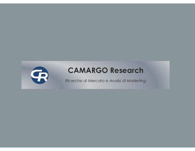 CAMARGO ResearchRicerche di Mercato e Analisi di Marketing