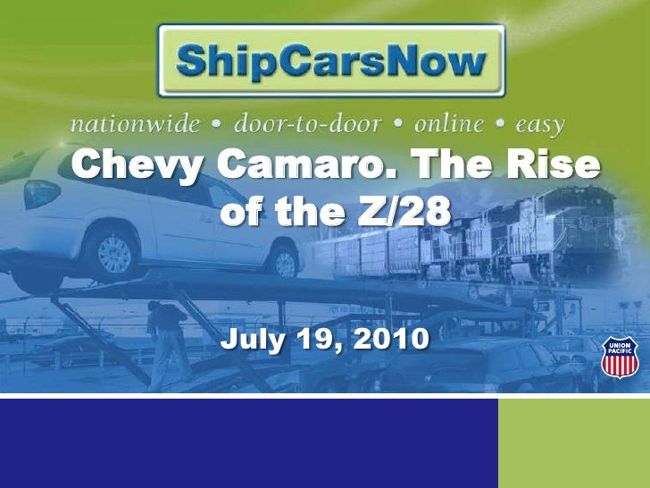 Chevy Camaro. The Rise of the Z/28<br />July 19, 2010<br />