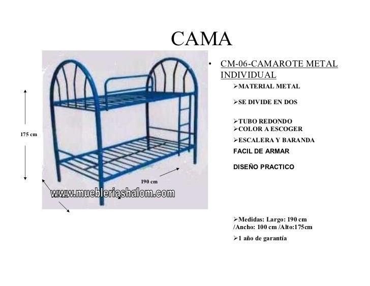 Camas - Medidas cama doble ...
