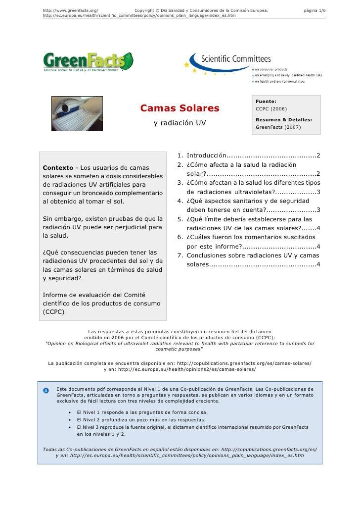 http://www.greenfacts.org/                   Copyright © DG Sanidad y Consumidores de la Comisión Europea.              pá...