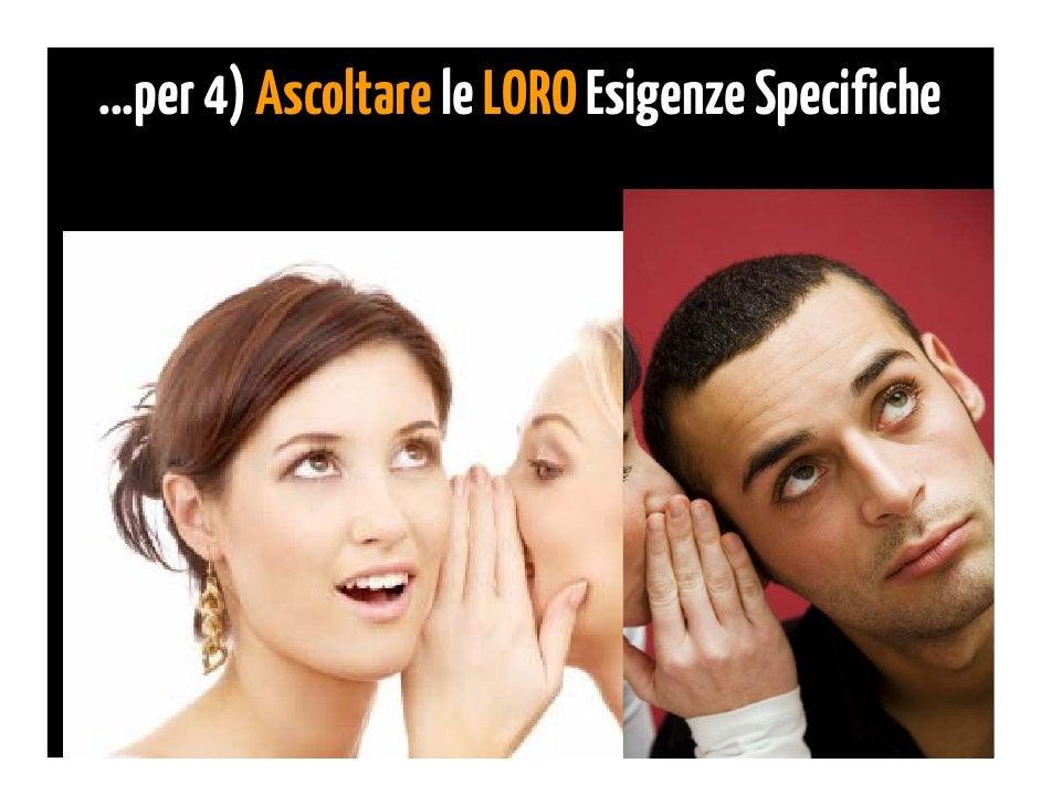 4) Ascolta Esigenze Specifiche   Ascolta fra le righe delle...                                  •   Risposte via email    ...