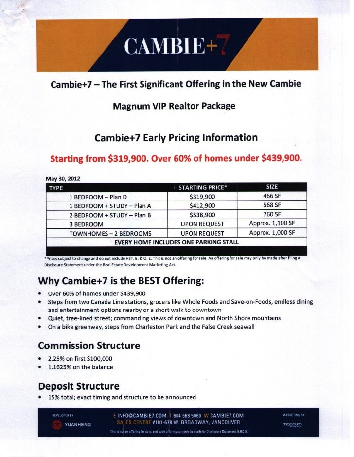 Cambie+7 preview package