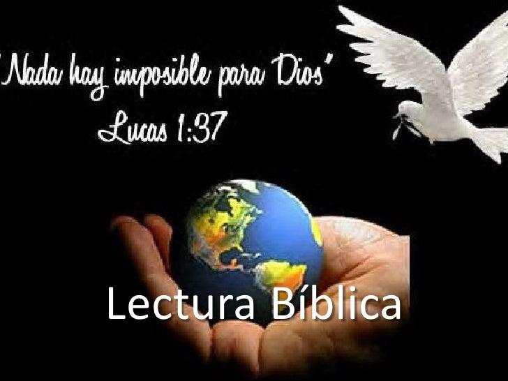 Lectura Bíblica<br />