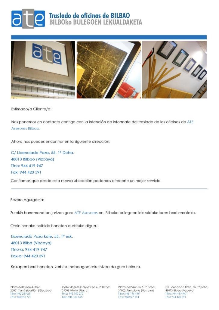 Cambio de oficinas en bilbo for Oficina de cambio
