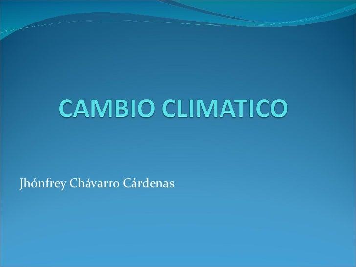 Jhónfrey Chávarro Cárdenas