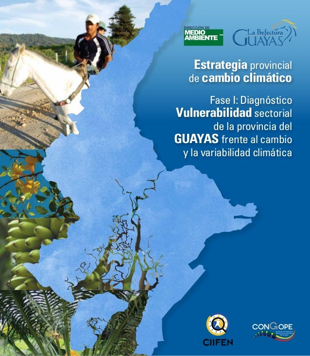 Estrategia provincialde cambio climáticoFase I: DiagnósticoVulnerabilidad sectorialde la provincia delGuayas frente al cam...