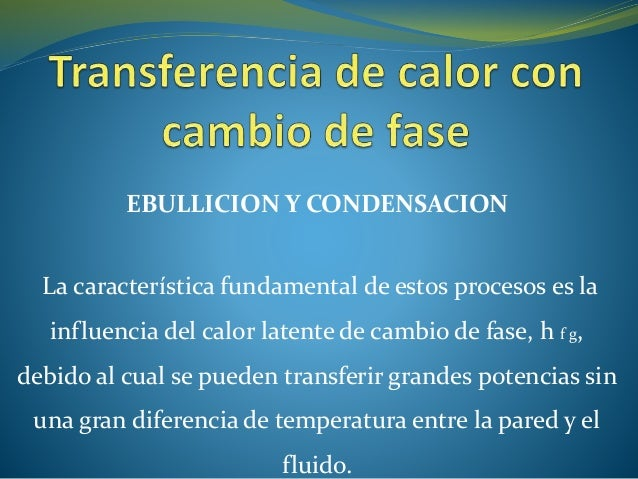 EBULLICION Y CONDENSACION La característica fundamental de estos procesos es la influencia del calor latente de cambio de ...