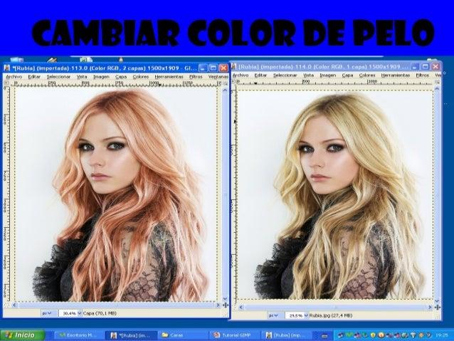 Cambio del color de pelo