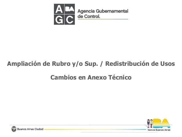 Ampliación de Rubro y/o Sup. / Redistribución de Usos Cambios en Anexo Técnico