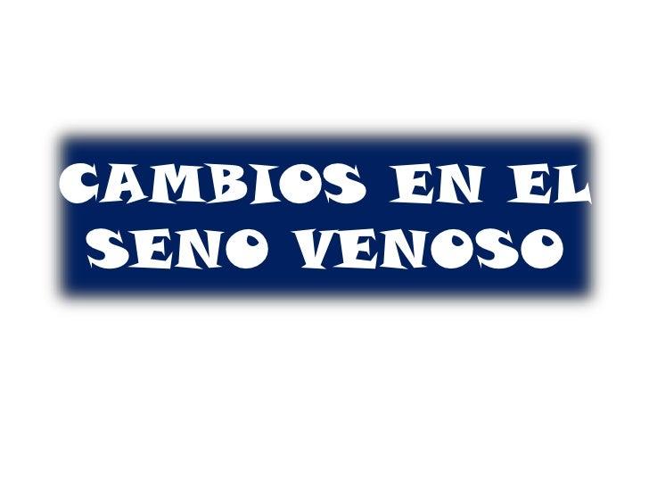 CAMBIOS EN EL SENO VENOSO<br />