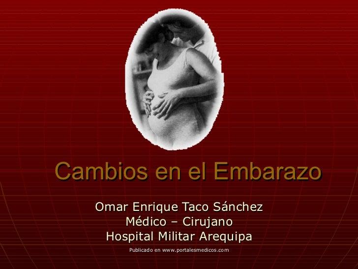Cambios en el Embarazo Omar Enrique Taco Sánchez Médico – Cirujano Hospital Militar Arequipa Publicado en www.portalesmedi...
