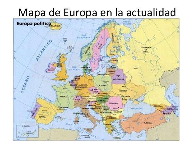 Cambios en el mapa de europa a travs