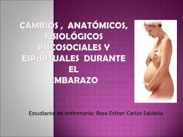 Estudiante de enfermería: Rosa Esther Carlos Saldaña.