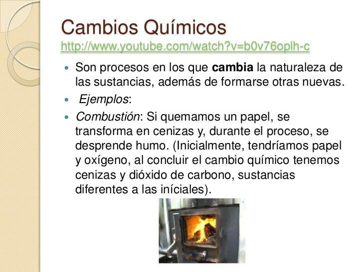 Cambios fisicos y quimicos for Procesos quimicos en la cocina