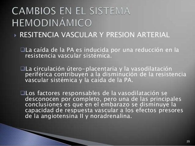  RESITENCIA VASCULAR Y PRESION ARTERIAL La caída de la PA es inducida por una reducción en la resistencia vascular sisté...