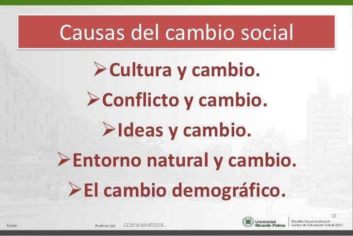Causas del cambio social<br /><ul><li>Cultura y cambio.