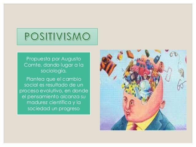 Propuesta por Augusto Comte, dando lugar a la sociología. Plantea que el cambio social es resultado de un proceso evolutiv...