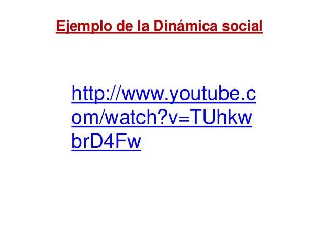 http://www.youtube.c om/watch?v=TUhkw brD4Fw Ejemplo de la Dinámica social