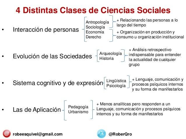4 Distintas Clases de Ciencias Sociales • Interacción de personas • Evolución de las Sociedades • Sistema cognitivo y de e...