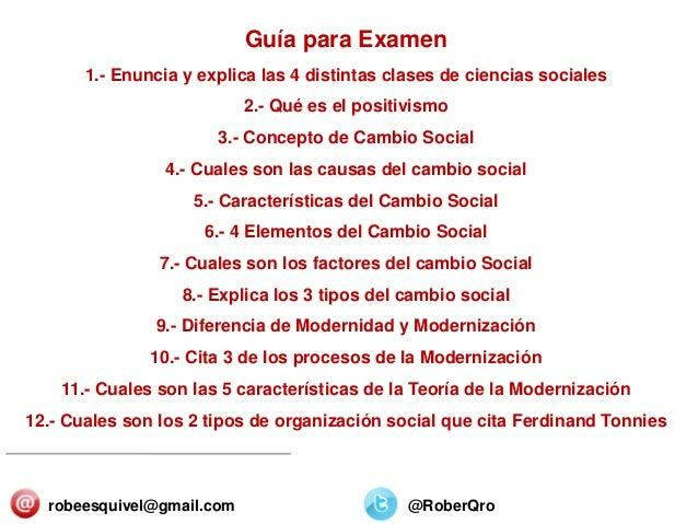 SECTORES Y ORGANIZACIONES 25/Diciembre/2013 Guía para Examen 1.- Enuncia y explica las 4 distintas clases de ciencias soci...