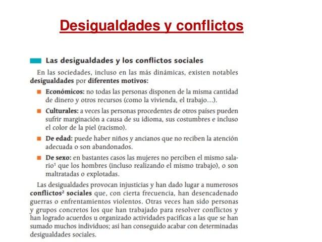 Desigualdades y conflictos