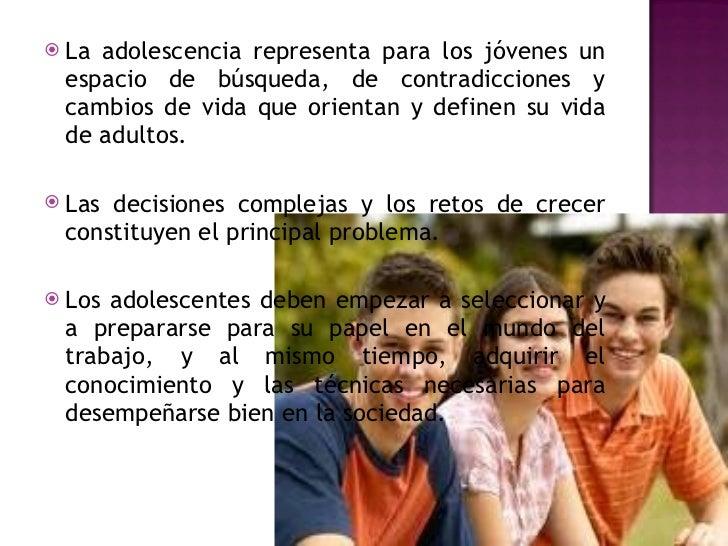 Cambios sociales en la adolescencia Slide 2