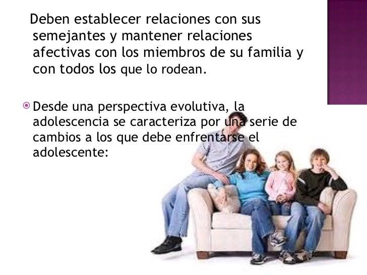 Cambios sociales en la adolescencia Slide 3
