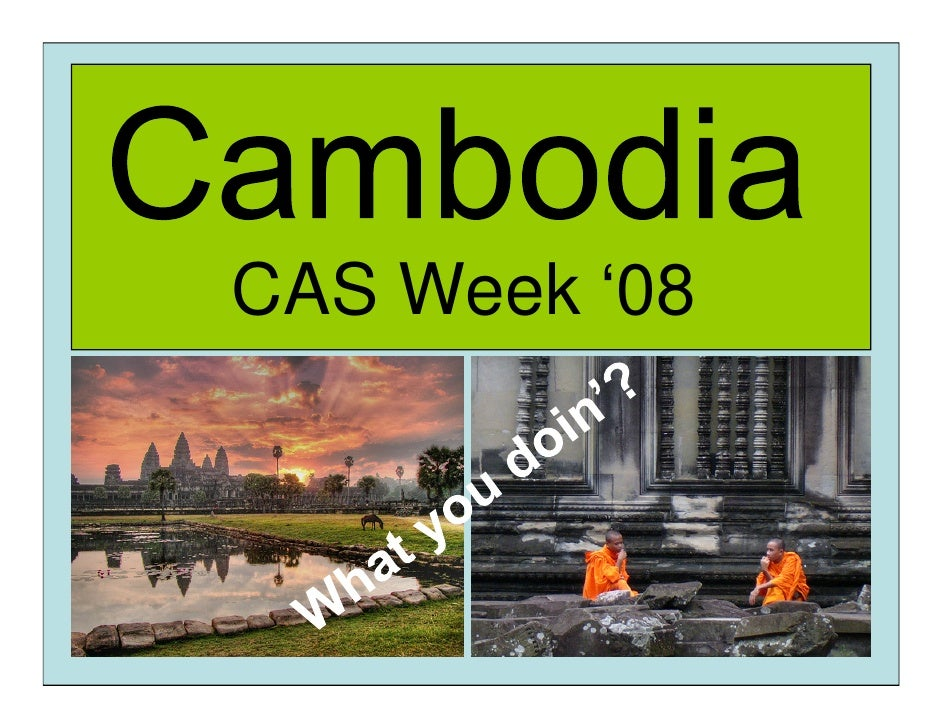 CAS Week '08