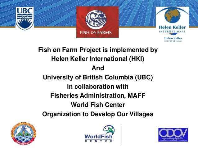 Cambodia overview of fish on farms project by chin da for Keller fish farms