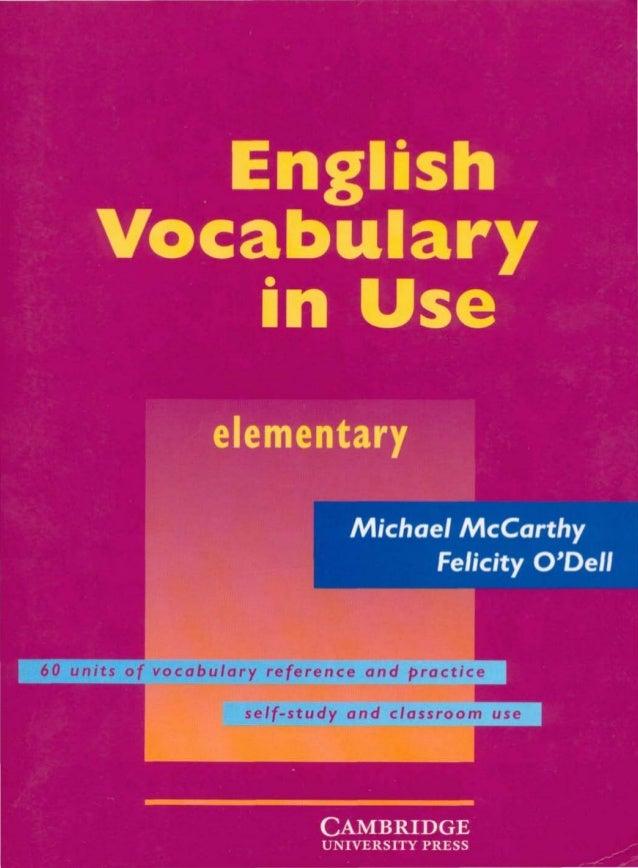 Cambridge   english vocabulary in use - elementary