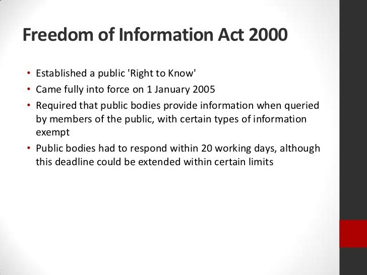 freedom of information act pdf