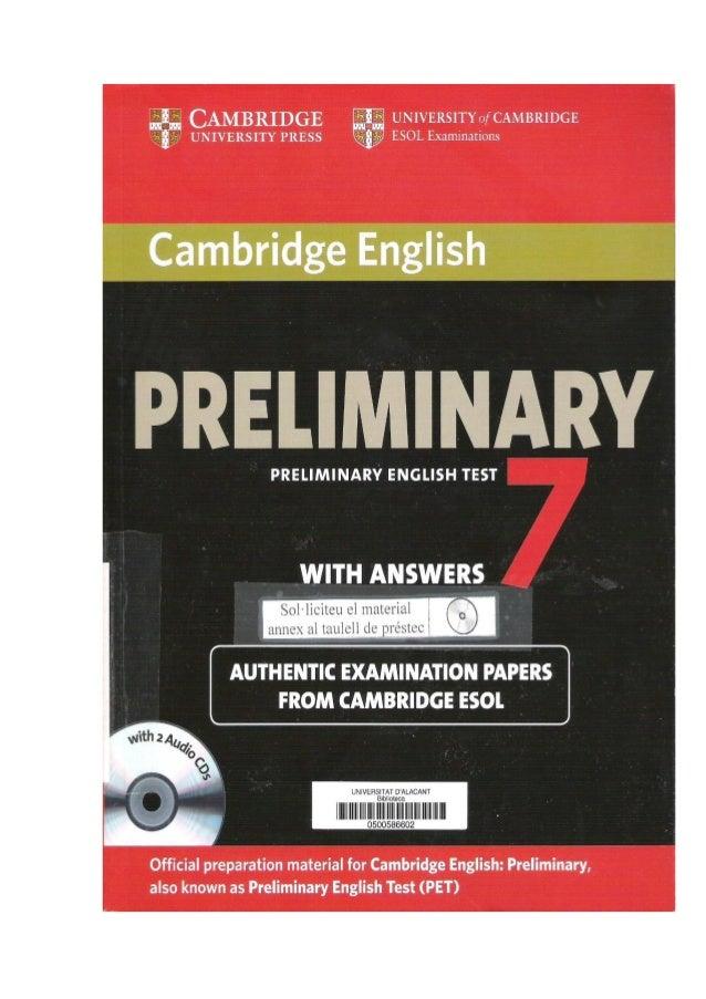 Cambridge Pet 7