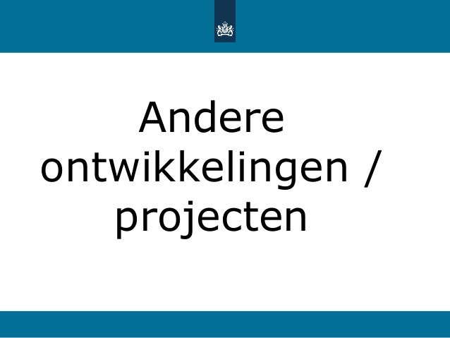 Andere ontwikkelingen / projecten