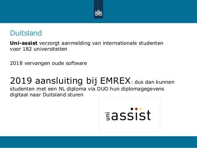 Duitsland Uni-assist verzorgt aanmelding van internationale studenten voor 182 universiteiten 2018 vervangen oude software...