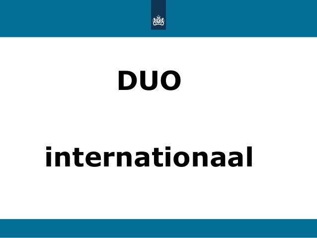 DUO internationaal